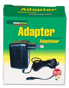 Adapter  220V ~ / 9V med två meters kabel